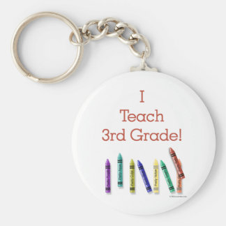 I Teach 3rd Grade Basic Round Button Key Ring
