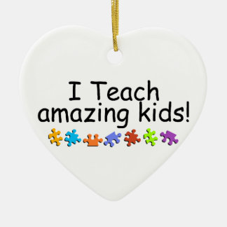 I Teach Amazing Kids Christmas Ornament