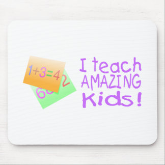 I Teach Amazing Kids Numbers Mouse Mats