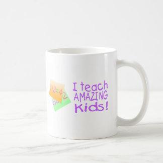 I Teach Amazing Kids (Numbers) Classic White Coffee Mug