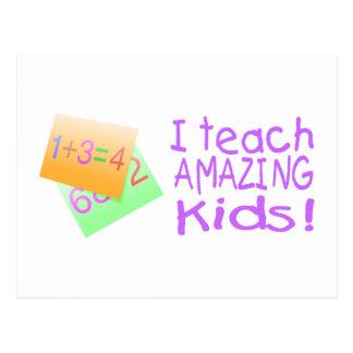 I Teach Amazing Kids (Numbers) Postcard