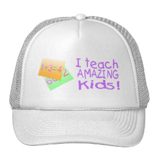 I Teach Amazing Kids (Numbers) Trucker Hats