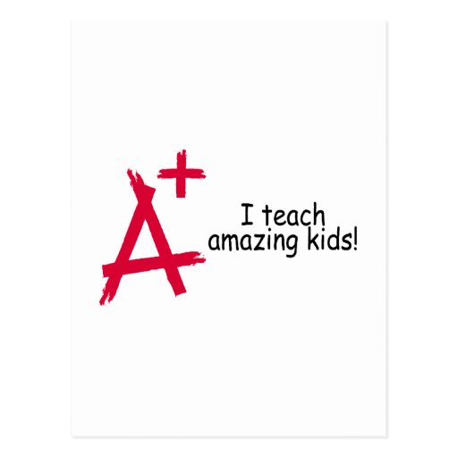 I Teach Amazing Kids Postcard