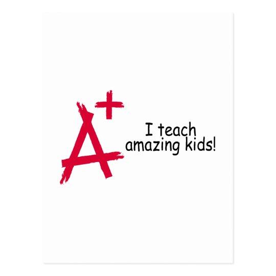 I Teach Amazing Kids Postcard