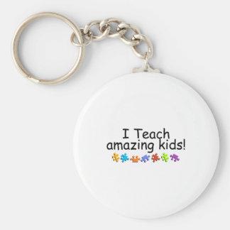 I Teach Amazing Kids (PP) Basic Round Button Key Ring