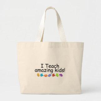 I Teach Amazing Kids (Puzzle) Large Tote Bag