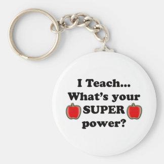 I teach basic round button key ring