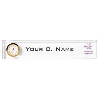 I Teach Elementary School What's Your Superpower? Nameplate