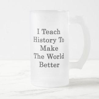 I Teach History To Make The World Better Coffee Mug