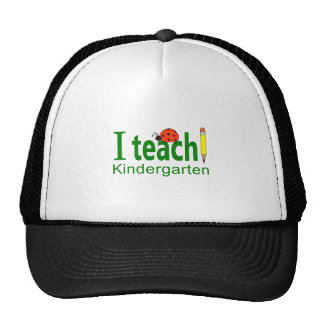 I TEACH KINDERGARTEN TRUCKER HAT