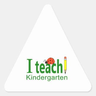 I TEACH KINDERGARTEN TRIANGLE STICKER