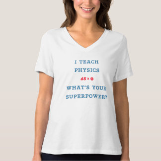 I Teach Physics What's Your Superpower Tee Shirt
