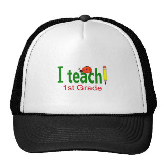I TEACH SECOND GRADE TRUCKER HATS