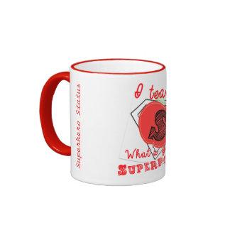 I Teach, What's Your Superpower? Superhero Mug! Ringer Mug