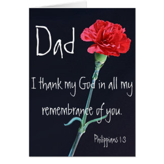 I thank my God dad bible verse Philippians 1:3 Greeting Card