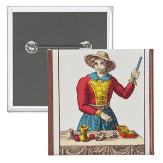 I The Magician, seven tarot cards 15 Cm Square Badge