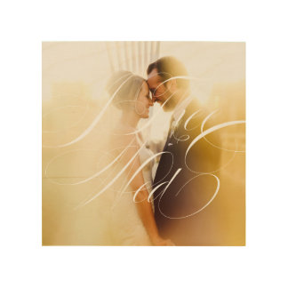 I Thee Wed II Wedding Photo Wood Canvas Wall Art