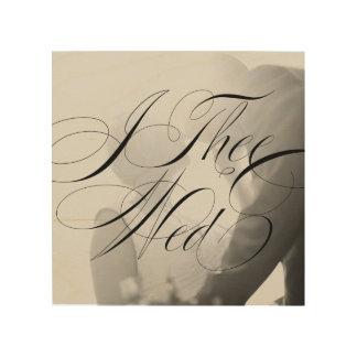 I Thee Wed III Wedding Photo Wood Canvas Wall Art