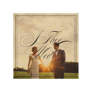 I Thee Wed V Wedding Photo Wood Canvas Wall Art