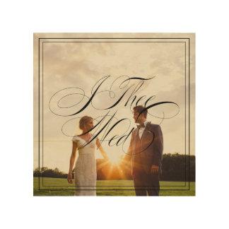 I Thee Wed V Wedding Photo Wood Canvas Wall Art