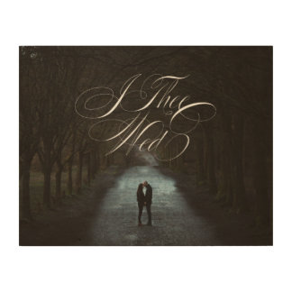 I Thee Wed VI Wedding Photo Wood Canvas Wall Art