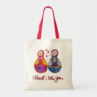 I think i like you budget tote bag