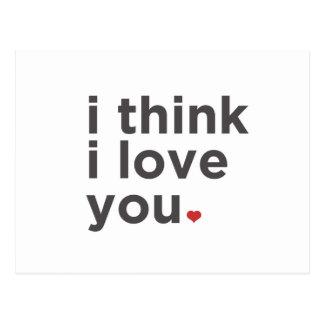 I Think I Love You Postcard