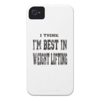 I Think I'm Best In Weight Lifting iPhone 4 Cover