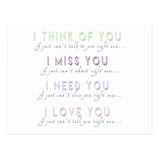 I Think Miss Need Love You Postcard