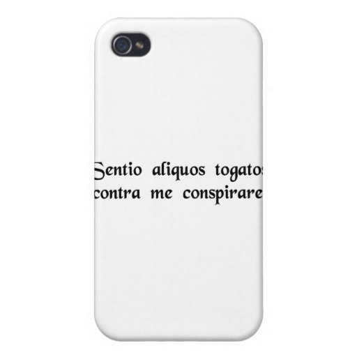 I think some people in togas are plotting....... cover for iPhone 4