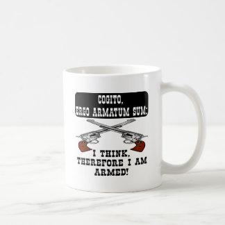 I Think Therefore I Am Armed Coffee Mug