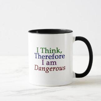 I Think, Therefore I am Dangerous Mug