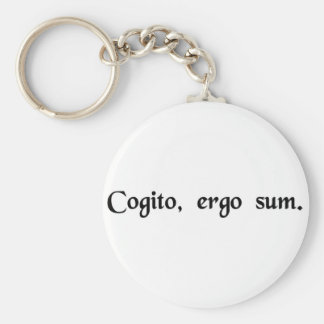 I think, therefore I am. Key Ring