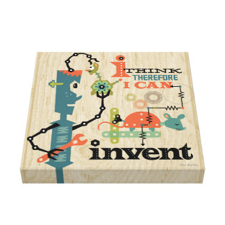 I think therefore I can invent Canvas Print