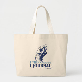 I Think Therefore I Journal Large Tote Bag