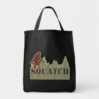 I Think There's A Squatch In These Woods Grocery Tote Bag
