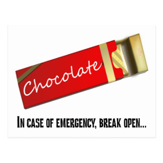 I think this qualifies as a chocolate emergency postcard