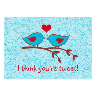I think you're tweet valentine cards pack of chubby business cards