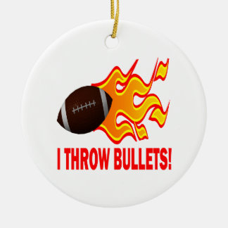 I Throw Bullets Round Ceramic Decoration