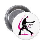 I Throw like a Girl Pink Softball Button