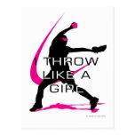 I Throw like a Girl Pink Softball Post Cards