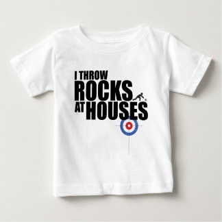 I throw rocks at houses curling baby T-Shirt