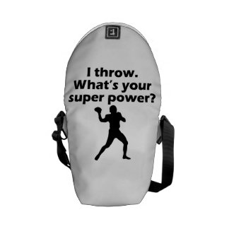 I Throw What s Your Super Power Messenger Bag