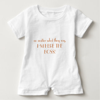 """I to the boss"" players Baby Bodysuit"