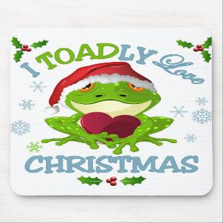 I Toadly Love Christmas Mouse Pad