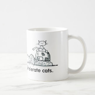 i tolerate cats coffee mug by Chris Desatoff