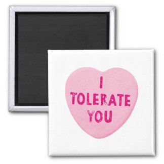 I Tolerate You Valentine's Day Heart Candy Magnet