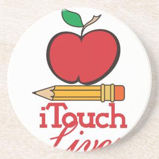 I Touch Lives Sandstone Coaster