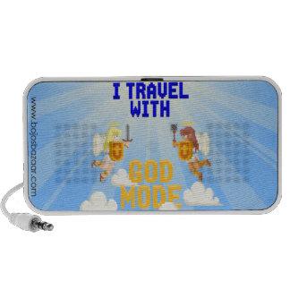 I Travel With God Mode Laptop Speakers