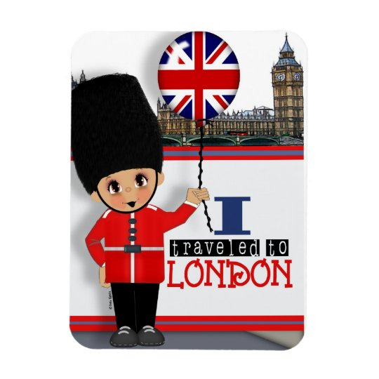 I Travelled to London Souvenir Magnet